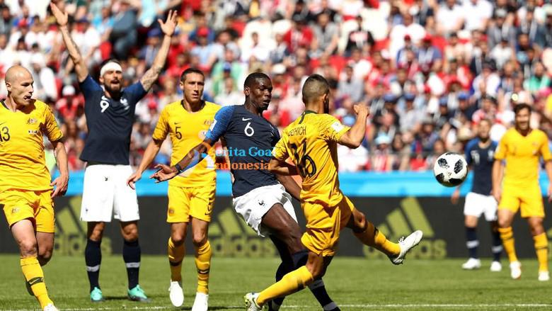 Berkat Goal Pogba, Perancis Kalahkan Australia 2-1