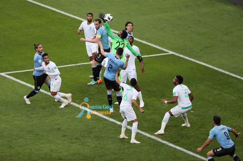 Uruguay Lolos 16 Besar, 1-0 Lawan Arab Saudi