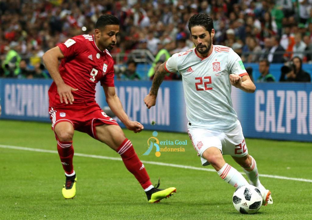 Gol Dianulir, Spanyol vs Iran 1-0