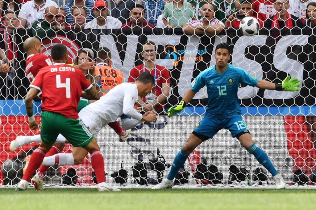 Maroko Gugur Karena Gol Tunggal Ronaldo