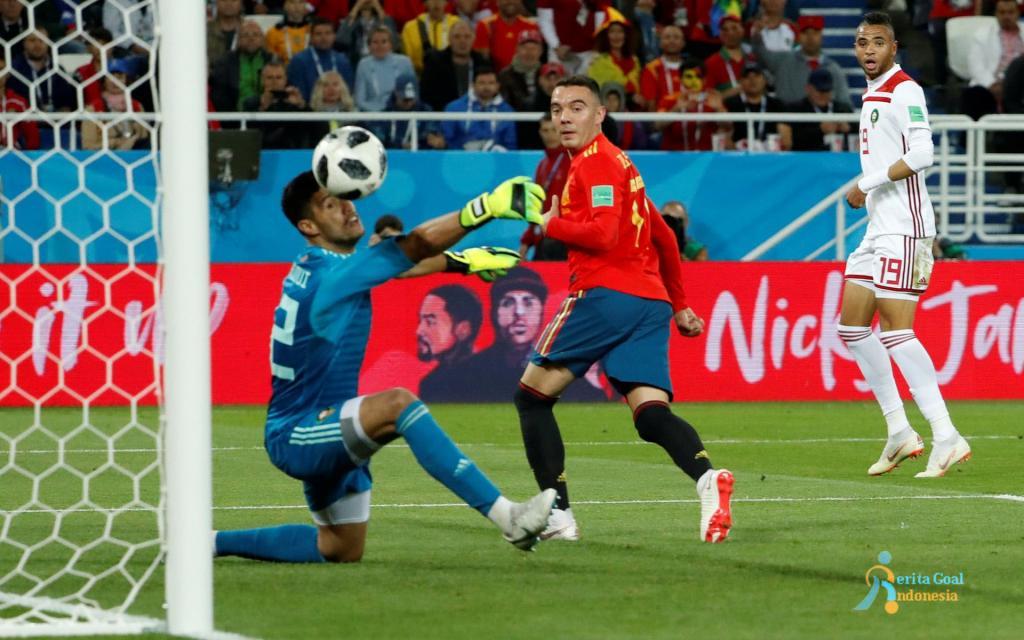 Spanyol vs Maroko 2-2, Spanyol Juara Grup B