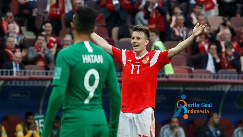 Menang Telak, Rusia vs Arab Saudi: 5-0