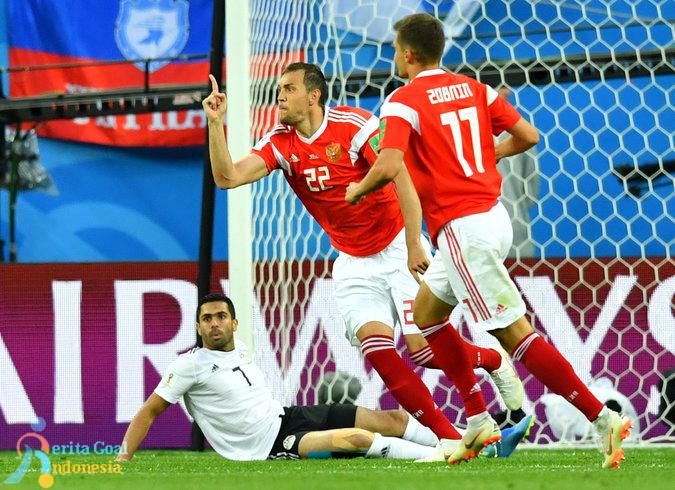 Ungguli Mesir 3-1, Rusia Lolos Babak 16 Besar
