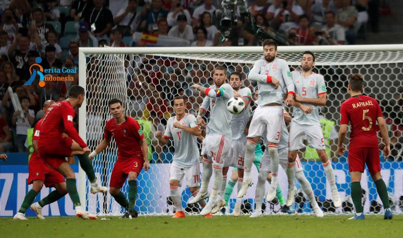 Ronaldo Hat-trick, Portugal vs Spanyol Imbang 3-3