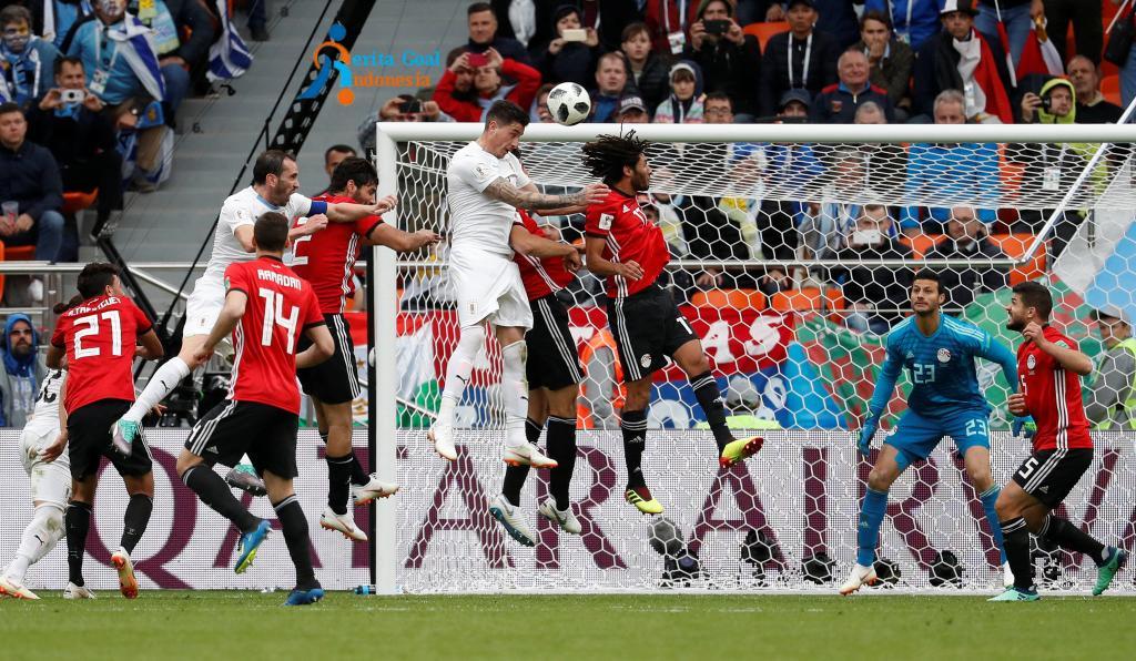 Sundulan Gimenez, Uruguay Kalahkan Mesir 1-0