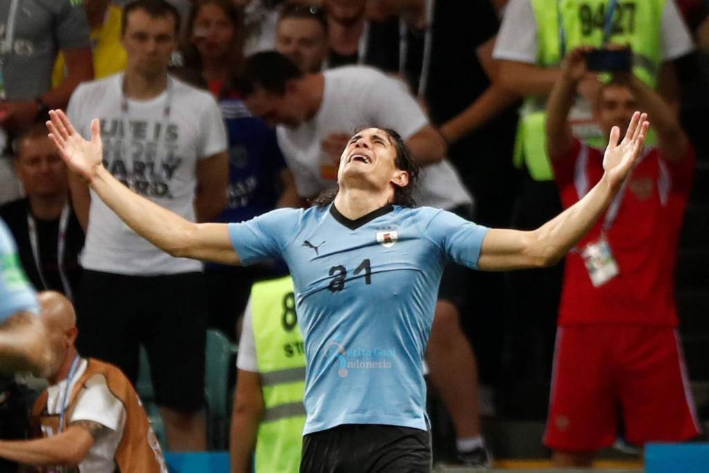 Uruguay vs Portugal 2-1, Cavani Alami Cidera