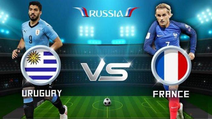 Prediksi Piala Dunia 2018, Uruguay vs Prancis