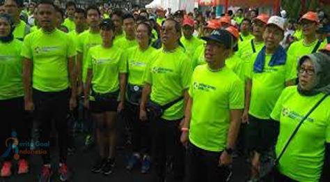 Dimeriahkannya Fun Run Asian Games oleh Pratikno sebagai Mensesneg