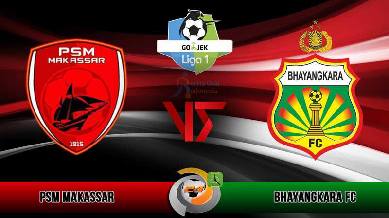 Ditaklukkan PSM Makassar, Bhayangkara FC Tertinggal 2 Peringkat