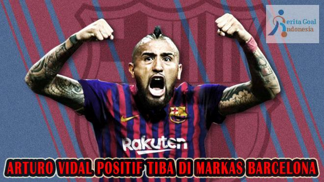 Arturo Vidal Positif Tiba Di Markas Barcelona