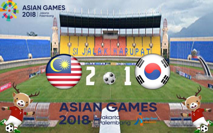 Asian Games 2018, Korea selatan Takluk Ditangan Malaysia 2-1