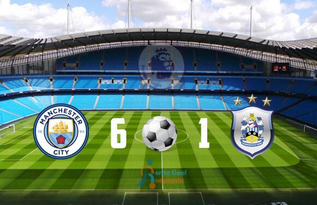 Liga Inggris, City menang atas Huddersfield Town 6-1, Aguero Menjadi Bintang Lapangan
