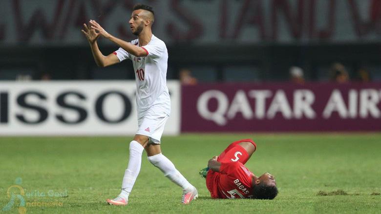 Bagas Adi Nugroho masih cedera akibat pertandingan melawan Palestina