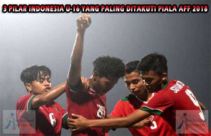 3 Pilar Indonesia U-16 Yang Paling Ditakuti Piala AFF 2018