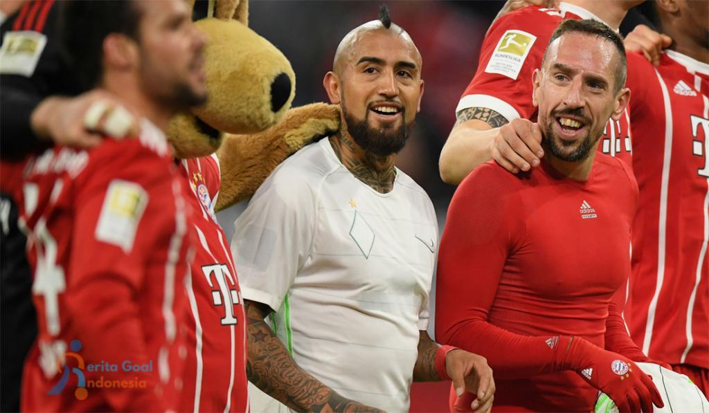 Pesan Perpisahan Yang Dibuat Ribery Untuk Vidal