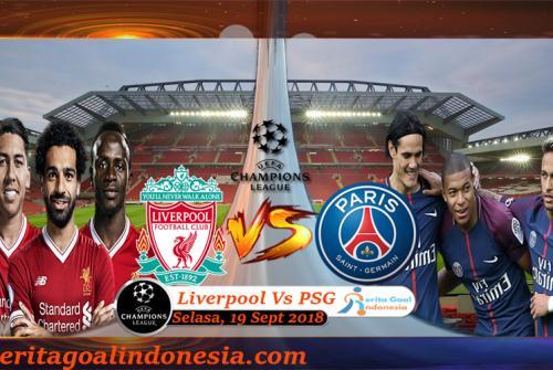 Prediksi Champions League : Liverpool Vs PSG 19 September 2018