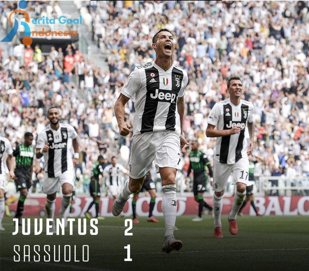 Hasil Liga Italia : Juventus tundukan Sassuolo 2-1