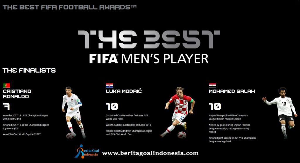 Daftar Calon Pemain Terbaik Dunia FIFA 2018