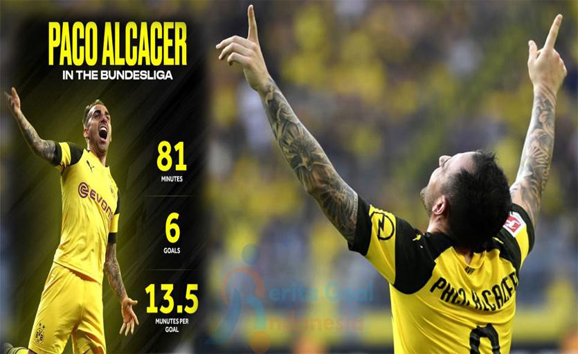 Paco Alcacer Tunjukan Ketajamannya Bersama Dortmund