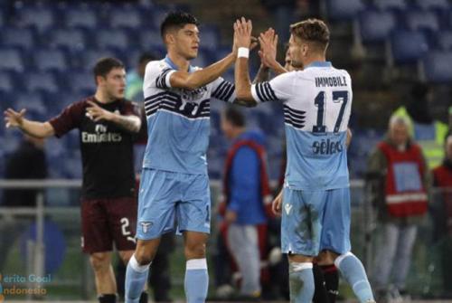 Skor Lazio vs AC Milan 1-1
