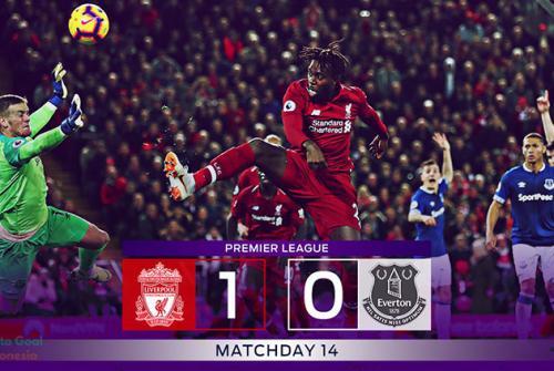 Liga Inggris 2018 Liverpool vs Everton 1-0