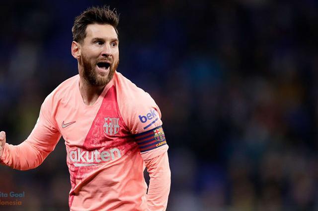 Derby Catalan Espanyol vs Barcelona 0-4, Messi Memukau