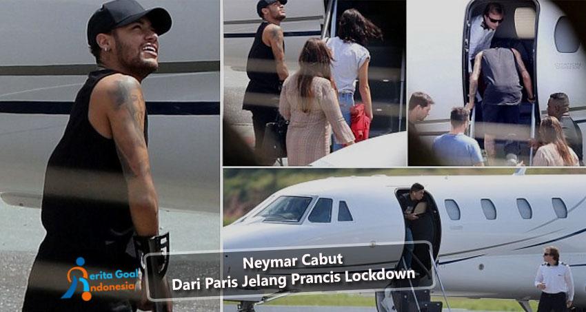Neymar Cabut Dari Paris Jelang Prancis Lockdown